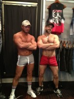 Tough guys at Nasty Pig HQ