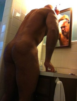 Shaving in the Mirror