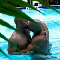 Island House Pool Kiss